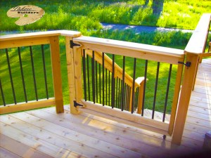 Rochester Hills MI Deck Builder Cedar Wood Deck Custom Gate