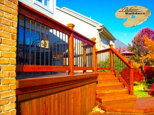 Rochester MI MI Deck Builder Stained Cedar Wood Deck Multi-Level