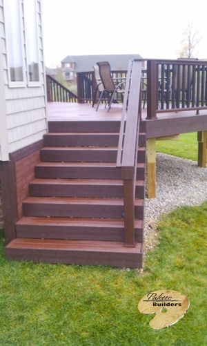 Washington Township MI Deck Builder Trex Composite Fire Pit Stairway