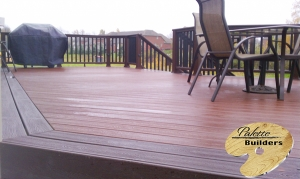 Washington Township MI Deck Builder Trex Composite Fire Pit Railing