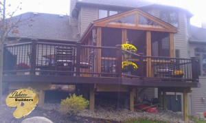 Rochester MI Porch Builder Trex  Transcends Custom Railing