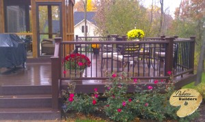 Rochester Hills MI Porch Builder Trex Transcends Custom Railing