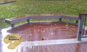 Rochester Hills MI Deck Builder Trex Composite Fire Pit + Gravel Path Bench