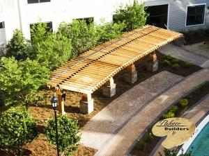 Rochester MI Gazebo/Pergola Builder Arial view of Custom Pergola