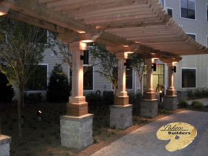 Rochester Hills MI Gazebo/Pergola Builder Custom Pergola with Accent Lighting