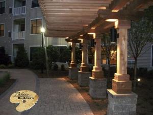 Rochester Hills MI Gazebo/Pergola Builder Custom Pergola with Accent Lighting