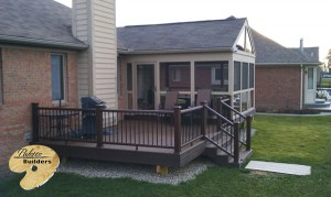 Clarkston MI Porch Builder Trex Transcends custom railing and Trex Decking