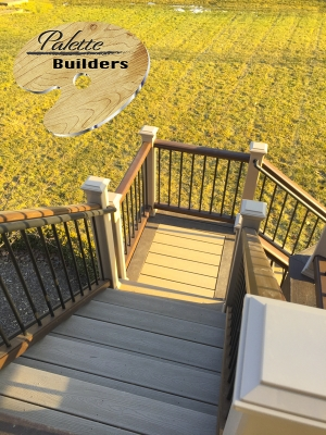 Orion Township MI Deck Builder Trex Composite Rope Swing Staircase Landing
