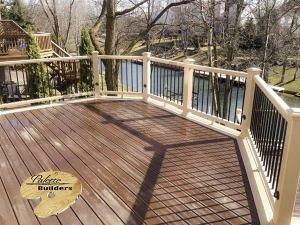 Lake Orion MI Deck Builder Trex Composite Rope Swing Multi Level LED Lighting