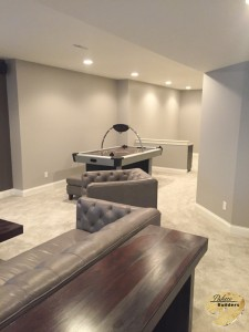 Washington Twp MI Finished Basements Accent Lighting