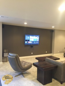 Brandon Twp MI Finished Basements Custom Entertainment Center