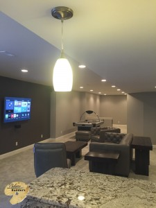 Independence Twp MI Finished Basements Custom Entertainment Center