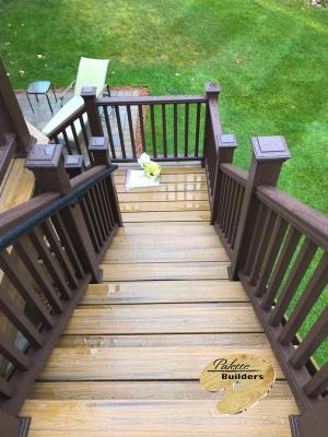 Oceola Township MI Deck Builder Trex Composite Havana Gold Stairway