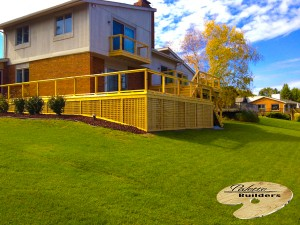 Commerce MI Deck Builder Cedar Wood Deck Lattice Skirting
