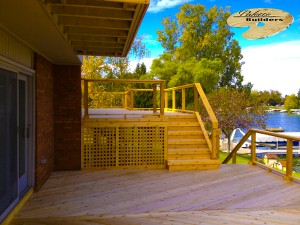 Commerce MI Deck Builder Cedar Wood Deck Multi Level Glass Rail
