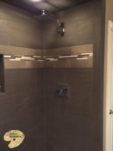 Rochester Hills MI Finished Basements Custom Tile Shower