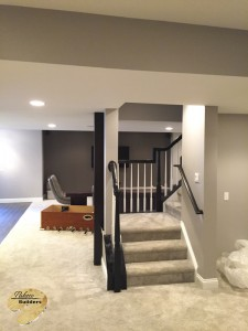 Oxford MI Finished Basements Custom Finished Stair