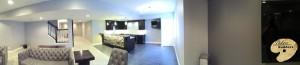 Washington Twp MI Finished Basements Custom Tile flooring and Bar