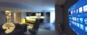 Independence Twp MI Finished Basements Custom Entertainment Center and Bar