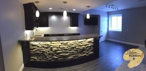 Oakland Twp MI Finished Basements Custom Granite Countertop Bar