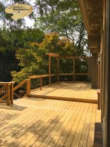 Rochester MI Deck Builder Cedar Wood Deck  Pergola