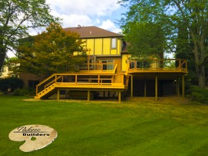 Rochester MI Deck Builder Cedar Wood Deck Multi Level