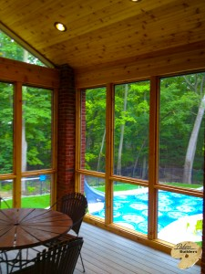 Rochester MI Porch Builder Trex Transcends glass windows