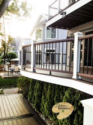 Lake Orion MI Deck Builder Trex Composite Dock Radius Rail