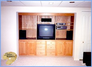 Washington Twp MI Finished Basements Custom Entertainment Center