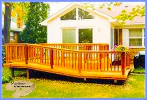 Shelby Township MI Deck Builder Cedar Wood Deck
