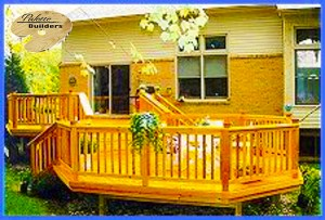 Lake Orion MI Deck Builder Cedar Wood Deck