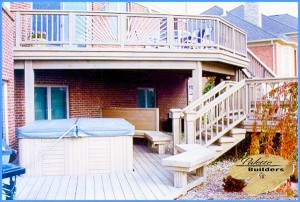 Oakland Township MI Deck Builder Cedar Wood Deck