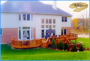 Lake Orion MI Deck Builder Cedar Wood Deck Multi Level