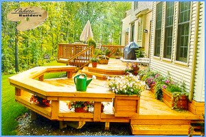 Troy MI Deck Builder Cedar Wood Deck Custom Bench