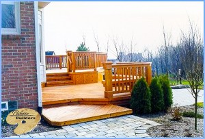 Troy MI Deck Builder Cedar Wood Deck Custom Railing