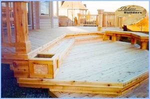 Oakland Township MI Deck Builder Cedar Wood Deck Multi Level