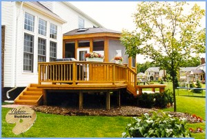 Washington Twp MI Porch Builder Trex Transcends Custom Porch and Cedar Wood Deck