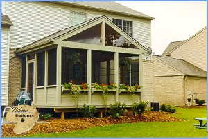 Brandon Twp MI Porch Builder Trex Transcends Custom Porch and Cedar Wood Deck
