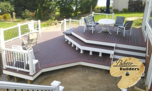 Waterford MI Deck Builder Trex Composite Fire Pit Multi Level